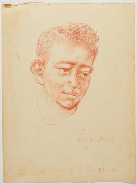 An image of recto: Dick Hou (Dala) verso: Sepo (Simon) by Nora Heysen