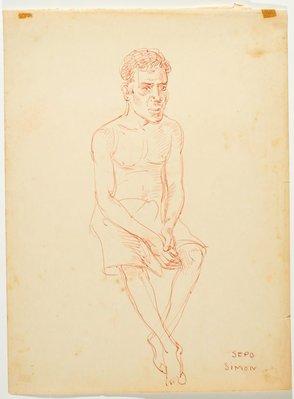 Alternate image of recto: Dick Hou (Dala) verso: Sepo (Simon) by Nora Heysen