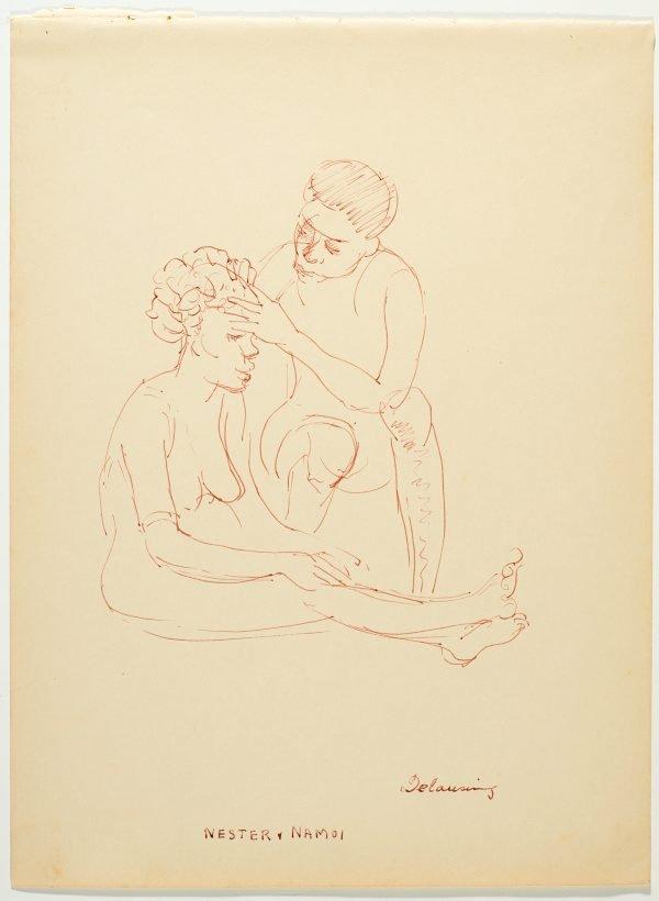 An image of recto: Delousing - Nester and Namoi verso: Gwakena