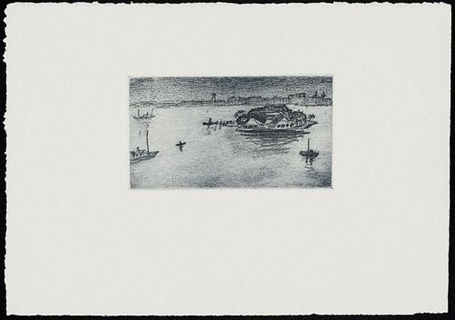 An image of The island, Iron Cove by Lloyd Rees