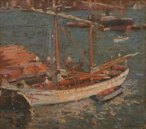 An image of The timber schooner by James R Jackson