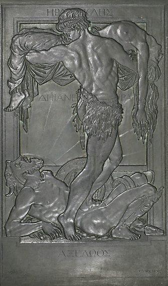 An image of Hercules, Achelous, Deianeira