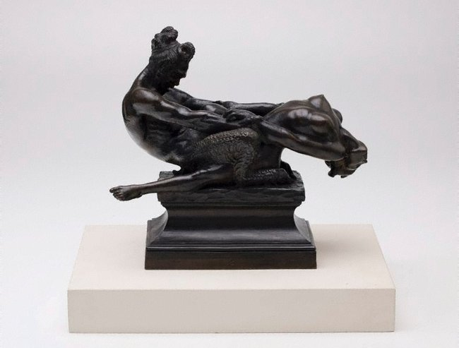 AGNSW collection Rayner Hoff Faun and nymph (1924) 6542