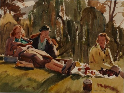An image of Picnic sketch by Ronald Hewison Steuart