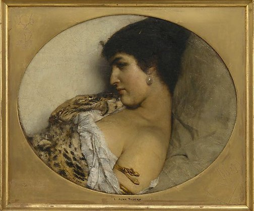 An image of Cleopatra by Sir Lawrence Alma-Tadema