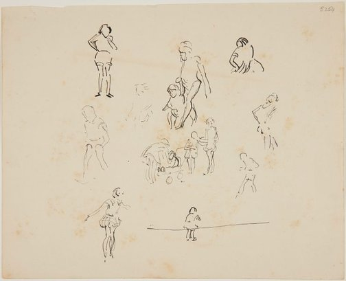 An image of (Studies of women and children) (London genre) by William Dobell