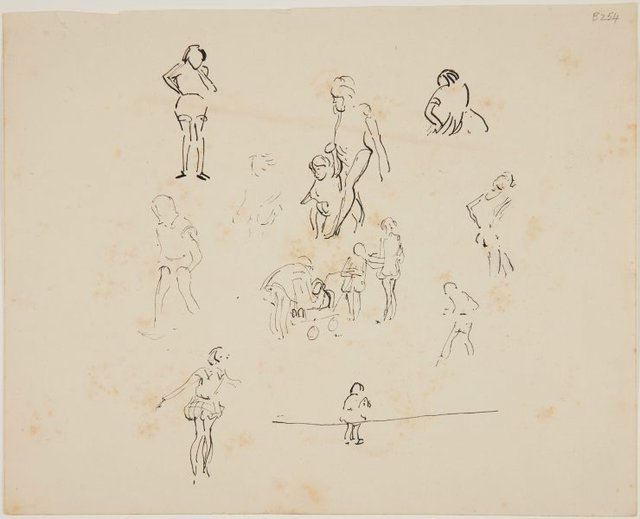 An image of (Studies of women and children) (London genre)