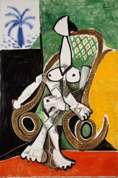 An image of Nude in a rocking chair by Pablo Picasso