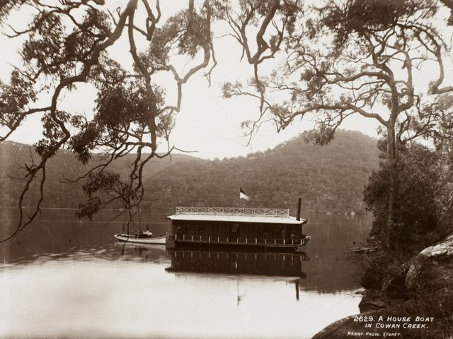An image of A house-boat in Cowan Creek
