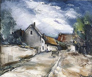 AGNSW collection Maurice de Vlaminck Italian village 66.1983