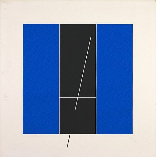 An image of (Blue, black) by Jesus-Rafael Soto