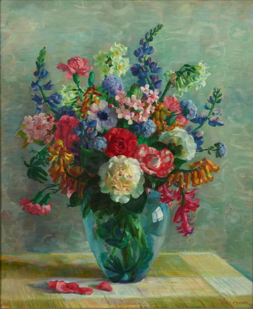 An image of Spring flowers by Nora Heysen