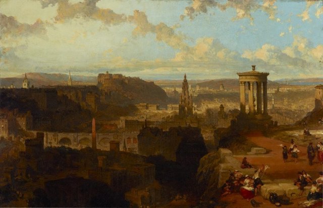 Edinburgh from the Calton Hill, (1858) by David Roberts