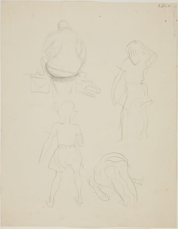 An image of (Figure studies; little boy scratching his head) (London genre)