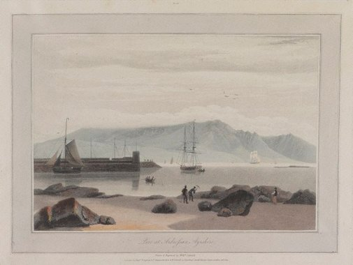 An image of Pier at Ardrossan, Ayrshire by William Daniell