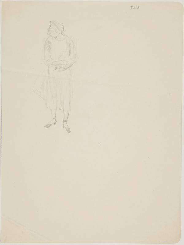 An image of (Study of woman with high heels) (London genre)