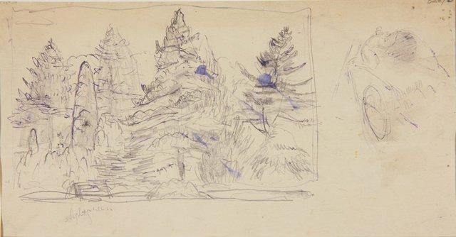 An image of (Fir trees) (London genre)