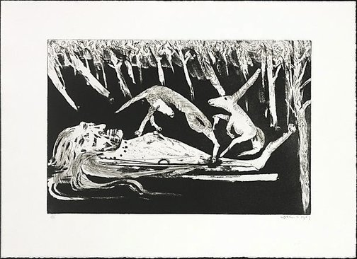 """An image of """"The lady of the forest"""" by Arthur Boyd"""