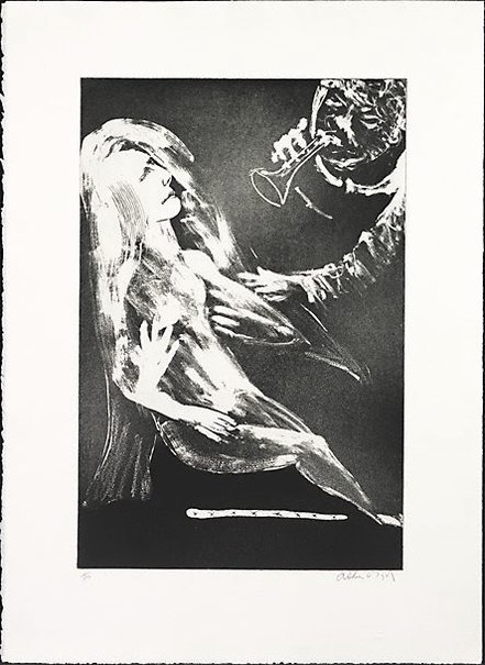 "An image of ""Trumpets flood the air"" by Arthur Boyd"