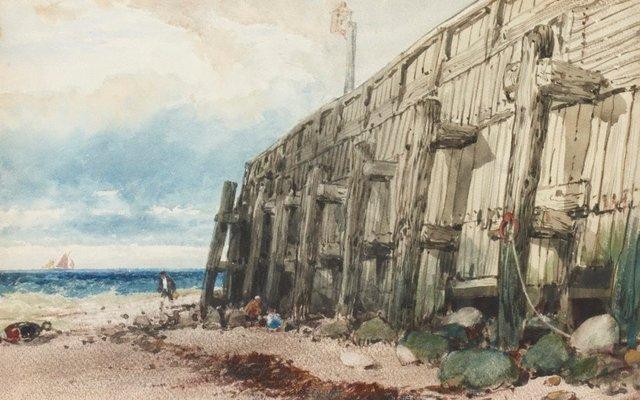 An image of Old Calais pier