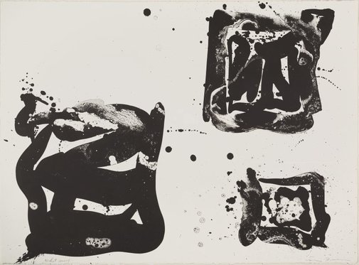 An image of Third stone by Sam Francis
