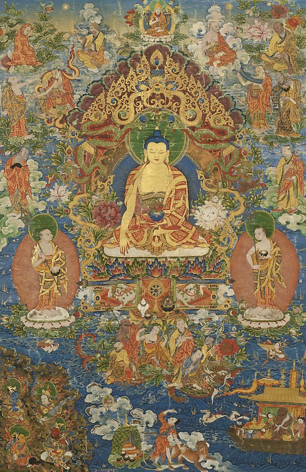 An image of Medicine Buddha (Bhaishajyaguru)