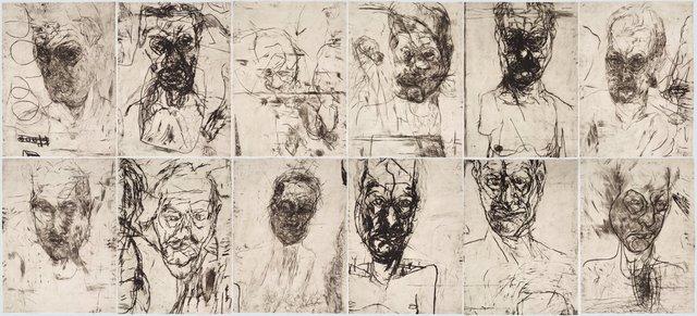 An image of 12 untitled self portraits (set 2)