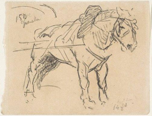 An image of Blown (A Paris cart-horse) by Lowes Dalbiac Luard