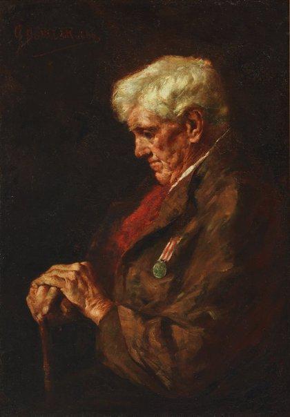 An image of A veteran (1857-1858) by Antonio Dattilo-Rubbo