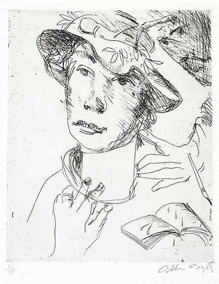An image of Poet distracted by his muse by Arthur Boyd