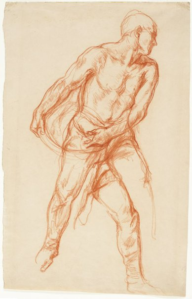 An image of Study for 'The sower' by Charles Shannon