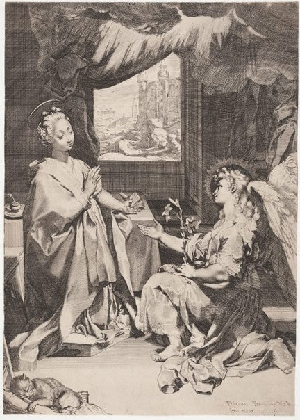 An image of The Annunciation by Federico Barocci