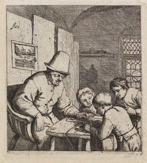 An image of The schoolmaster by Adriaen van Ostade