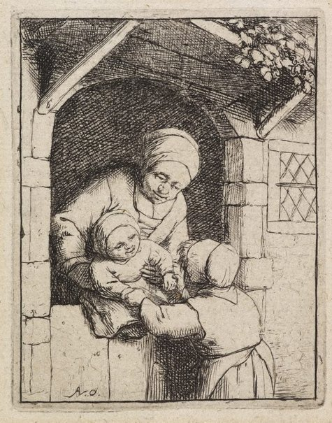 An image of Mother with two children by Adriaen van Ostade