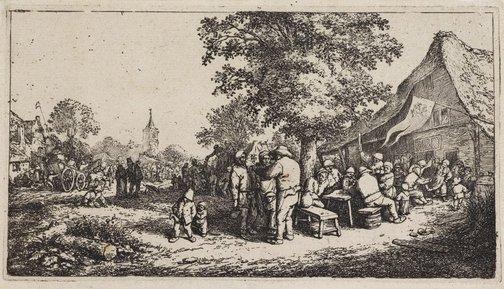 An image of The fair by Adriaen van Ostade
