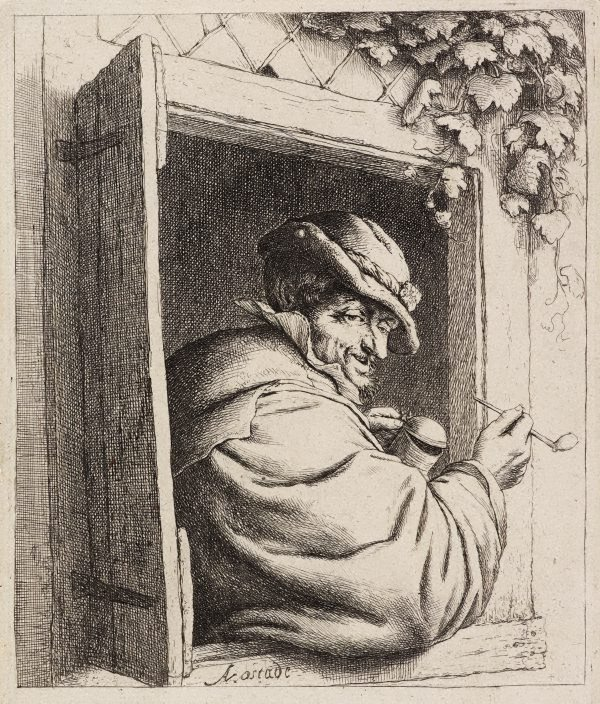 An image of The smoker at the window