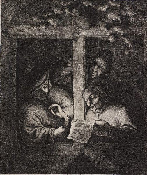 An image of The singers by Adriaen van Ostade