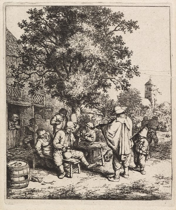 An image of The fiddler and the hurdy-gurdy boy