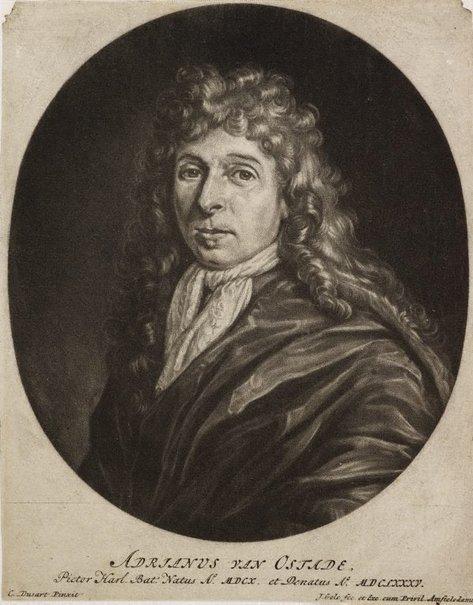 An image of Portrait of Adriaen van Ostade by Jacob Gole, after Cornelis Dusart