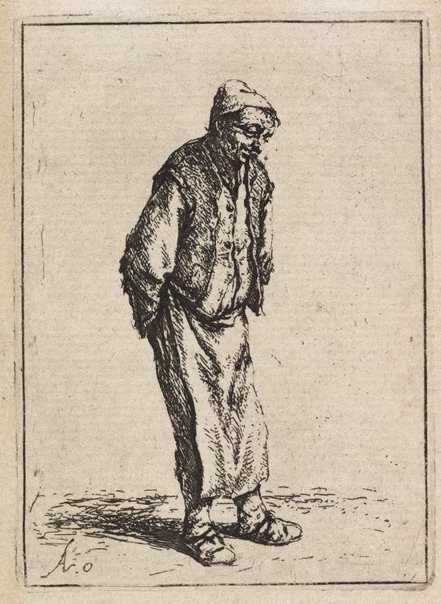 An image of Peasant with his hands behind his back by Adriaen van Ostade