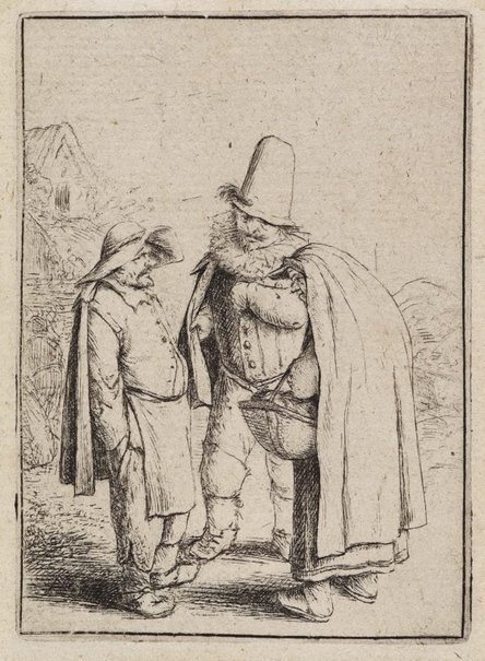 An image of Three grotesque figures by Adriaen van Ostade
