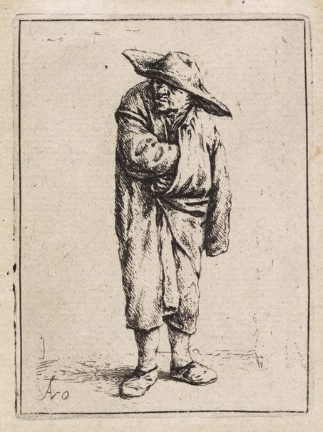 An image of Peasant with his hand in his cloak by Adriaen van Ostade