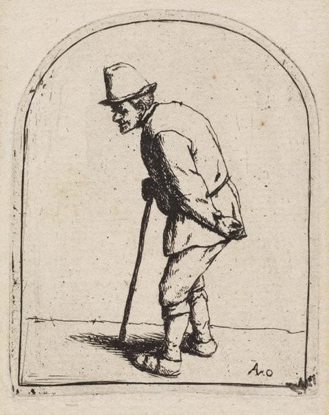 An image of Peasant with a crooked back by Adriaen van Ostade