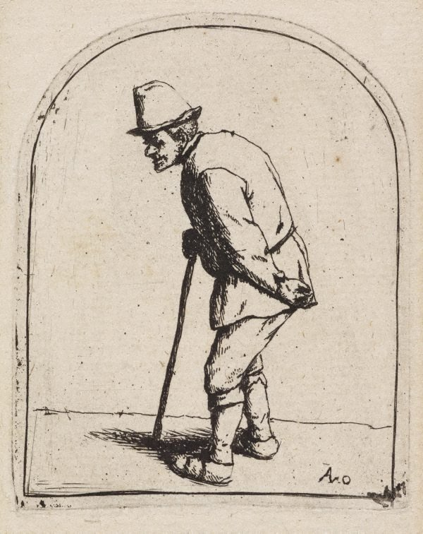 An image of Peasant with a crooked back