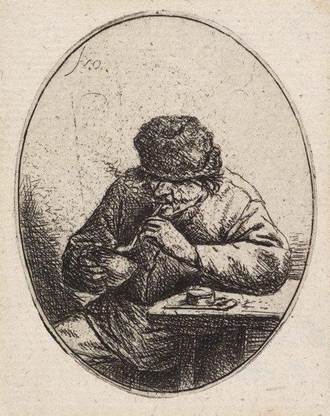 An image of The smoker by Adriaen van Ostade