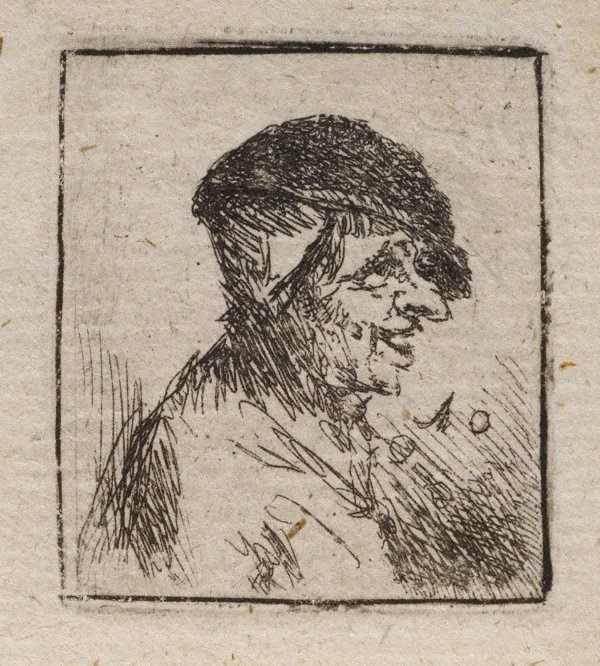 An image of Bust of a laughing peasant