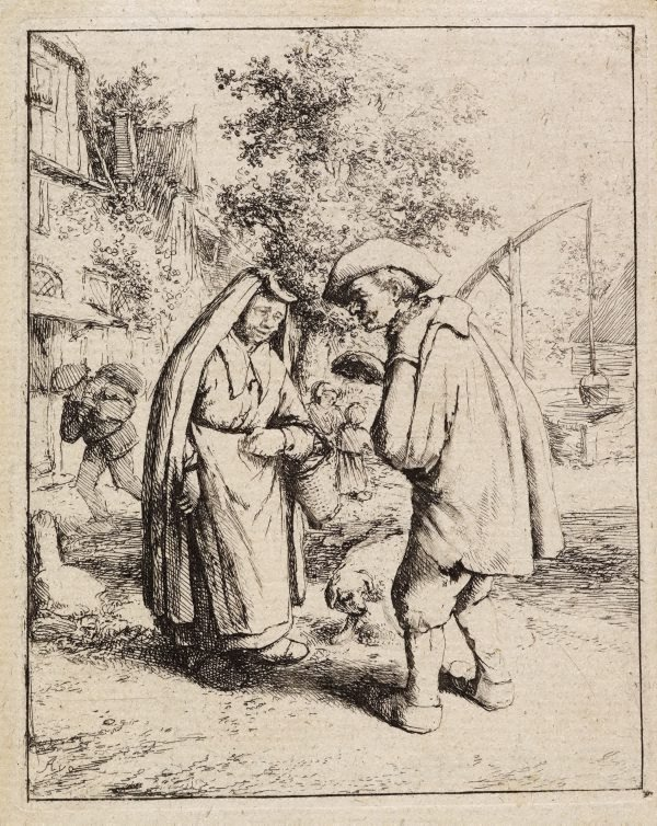 An image of Man and woman talking