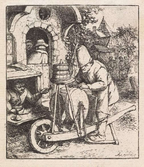 An image of The knifegrinder by Adriaen van Ostade
