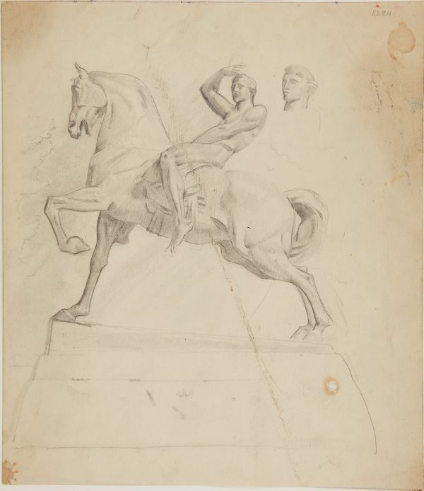 An image of (Equestrian statue) (London genre)