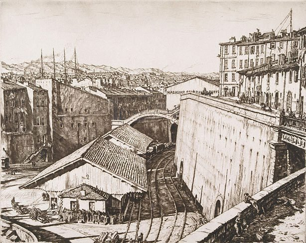 An image of Railway sheds, Marseilles